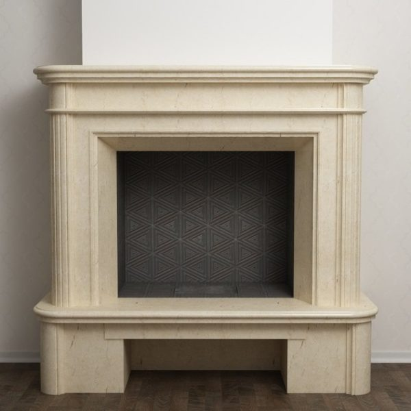 Пристенная каминная облицовка из мрамора KB Modern 03