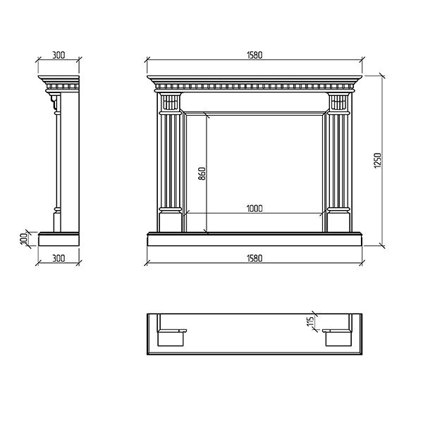 портал для камина Адонис