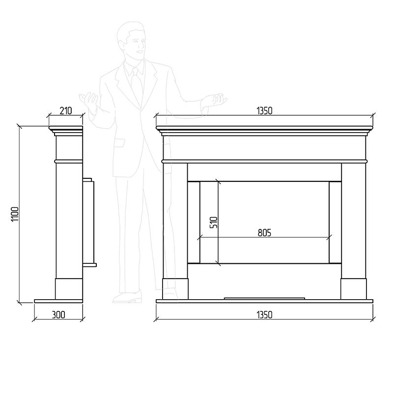 каминный портал Сакраменто
