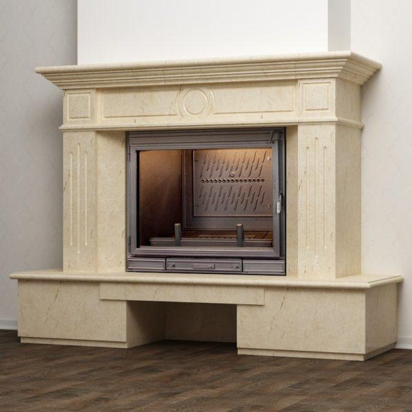 Пристенная каминная облицовка из мрамора KB Palladio